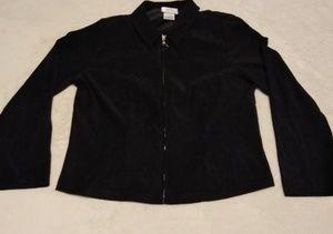 Lightweight Black Faux Suede Jacket